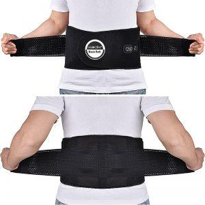 Faces avant et arrière de la ceinture lombaire chauffante médicale