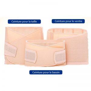 Présentation des 3 ceintures extensibles de grossesse