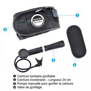 kit ceinture gonflable noir