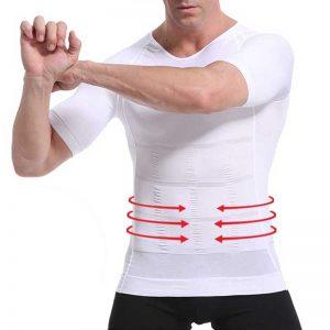 T shirt correcteur posture homme coloris blanc