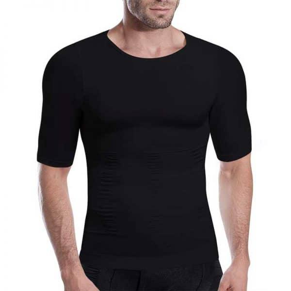 T shirt correcteur de posture homme coloris noir