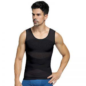 T-shirt correcteur de posture noir pour homme