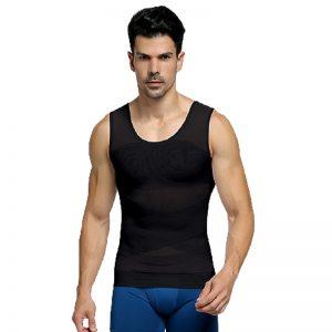 T-shirt correcteur de posture avec soutien dorsal. Modèle pour homme, coloris noir
