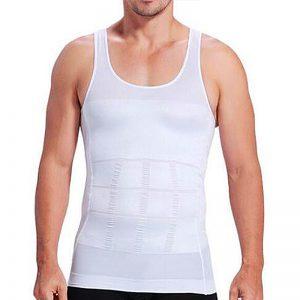 T-shirt redresse dos homme blanc