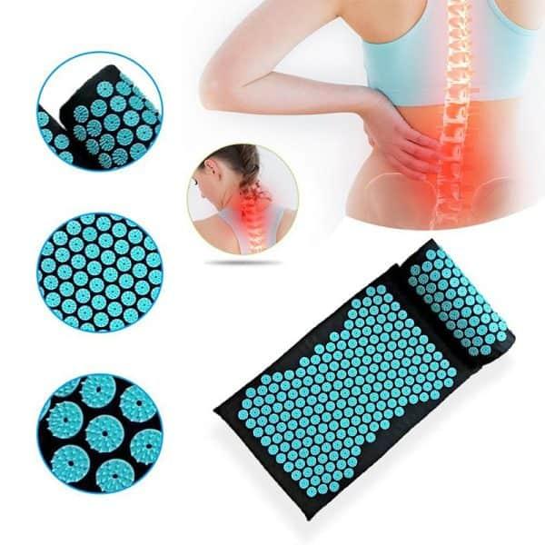 Tapis et coussin d'acupression pour soulager les douleurs dorsales, lombaires et cervicales