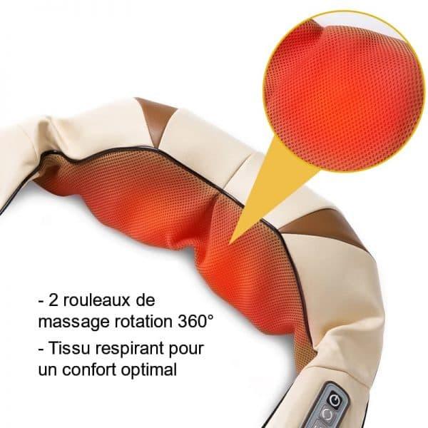 Appareil de massage chauffant Shiatsu