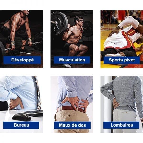 ceinture lombaire sport musculation bureau maux dos