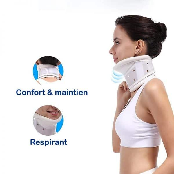 Collier cervical rigide confortable et respirant