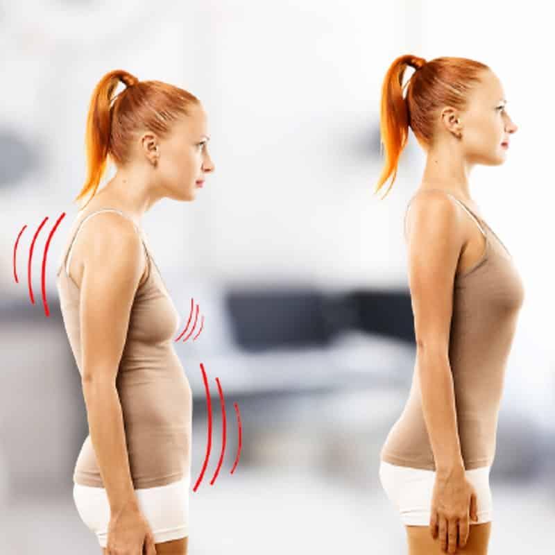Bénéfices avant après d'un soutien-gorge correcteur de posture