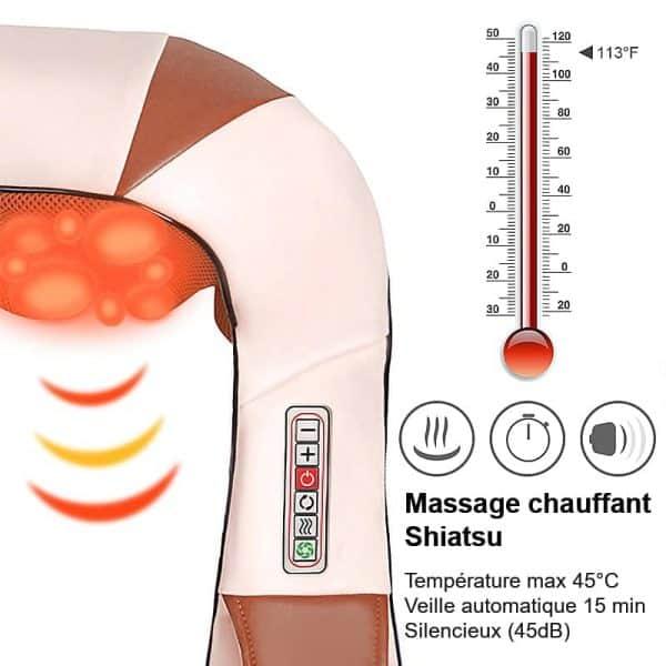Massage chauffant Shiatsu
