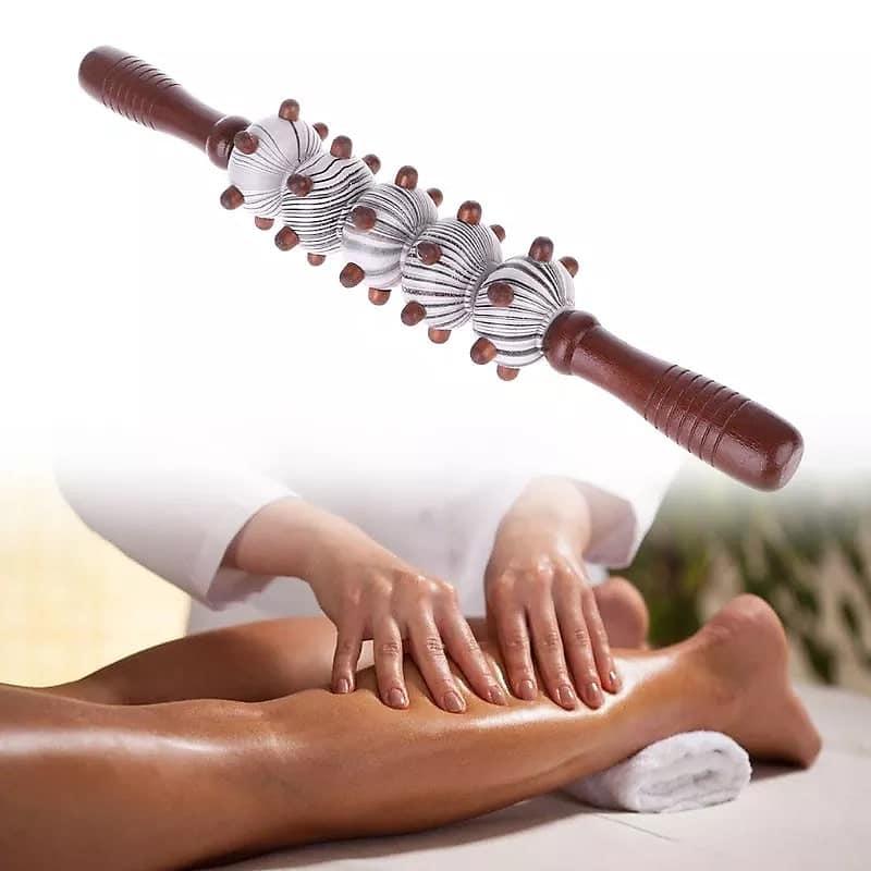 Rouleau en bois pour massage et relaxation
