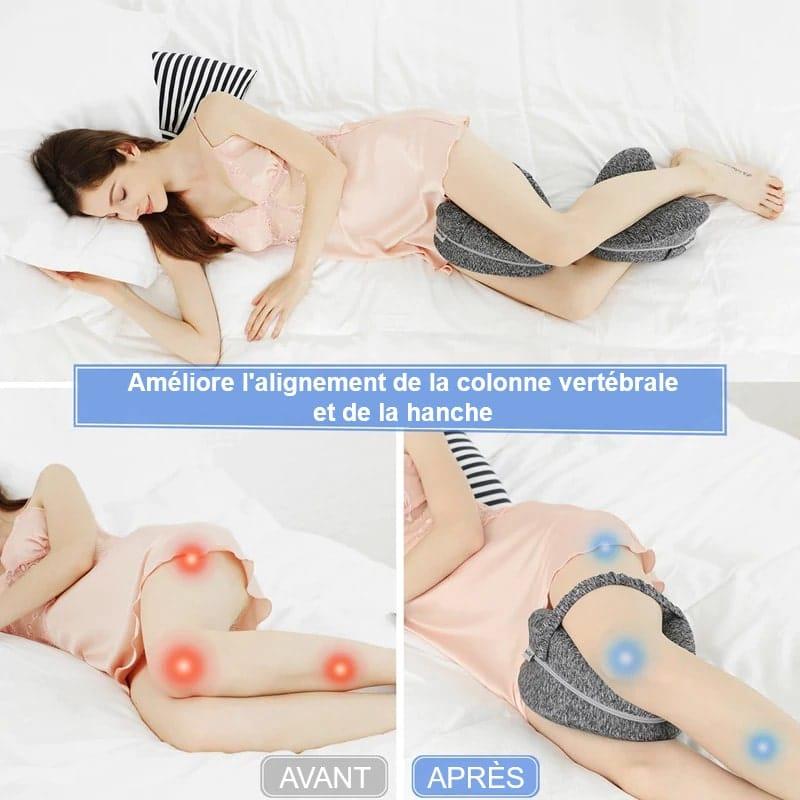 Coussin orthopédique pour genoux pour un bon alignement de la colonne vertébrale