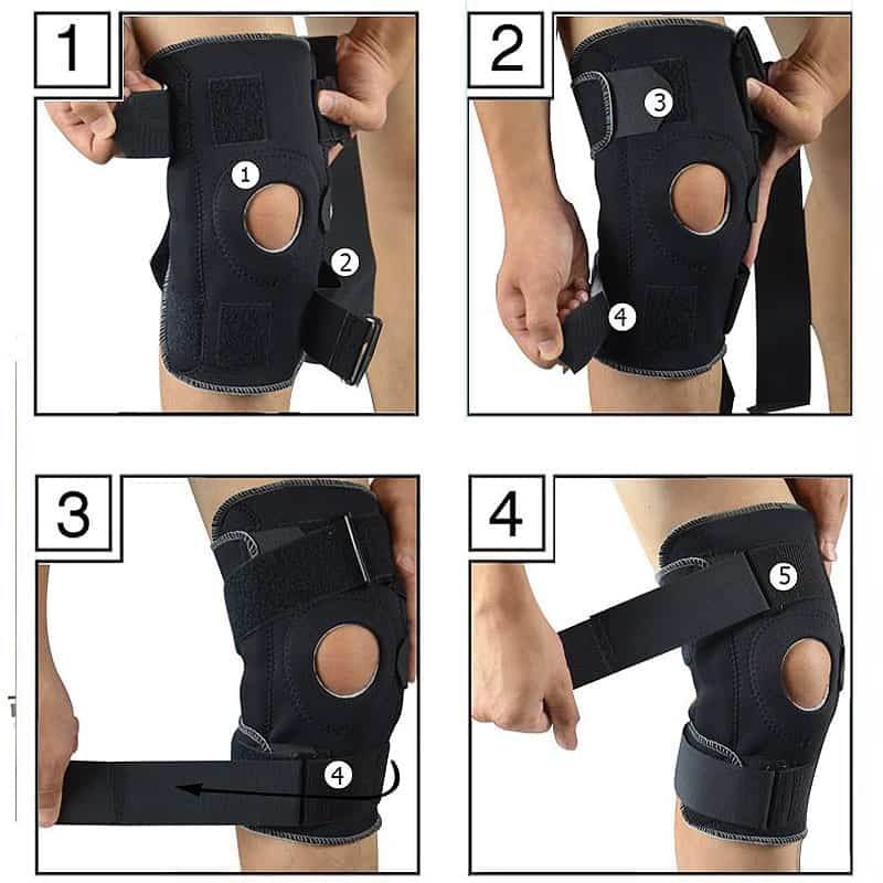 etapes utilisation genouillere orthopedique