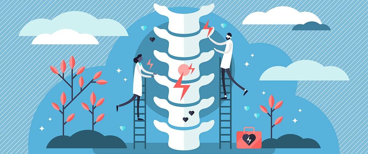 Schéma représentant la chiropractie