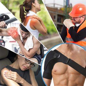 écharpe épaule pour les pathologies telles que tendinite, arthrose, fracture, instabilité, traumatisme, etc...