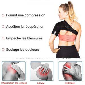 echarpe epaule pour soulager les douleurs au dos