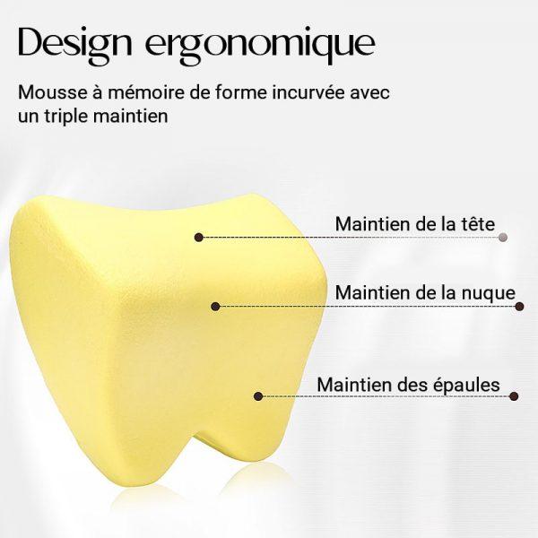 Coussin lombaire pour voiture avec un design ergonomique
