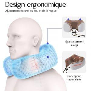 Coussin massage chauffant avec un design ergonomique