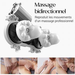 Coussin massage chauffant professionnel pour les douleurs musculaires et articulaires