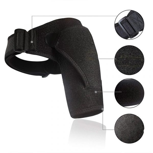 Attelle pour épaule avec scratch type Velcro