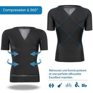 T shirt correcteur de posture pour soulager les maux de dos