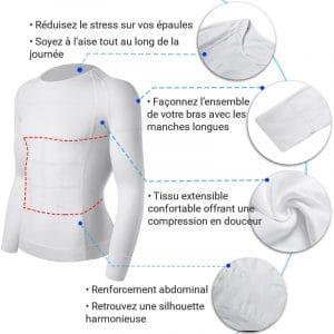T shirt pour le dos pour les douleurs lombaires et cervicales