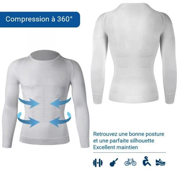 T shirt pour soulager les douleurs au dos