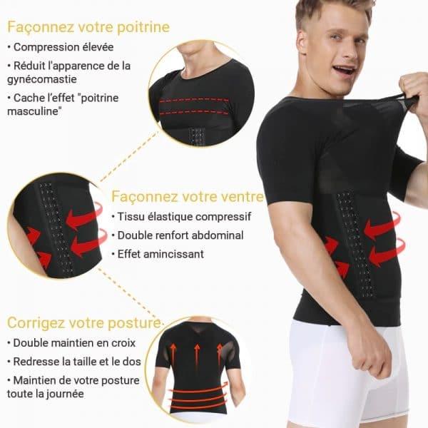 Tee shirt mal de dos pour corriger la posture