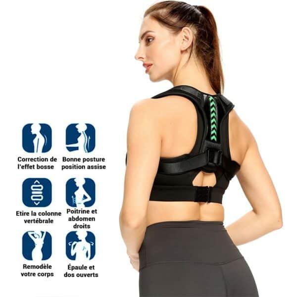 Correcteur de posture dos pour soulager les maux de dos et avoir une bonne posture