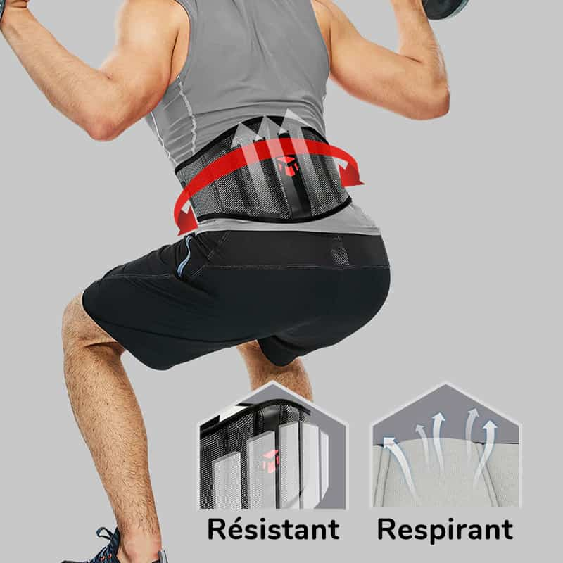 Ceinture de maintien respirante pour la musculation