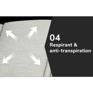 Ceinture lombaire de musculation anti-transpiration