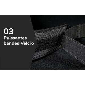 Ceinture lombaire de musculation avec bandes Velcro
