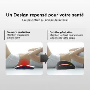 Coussin au design ergonomique pour le dos et les vertèbres lombaires