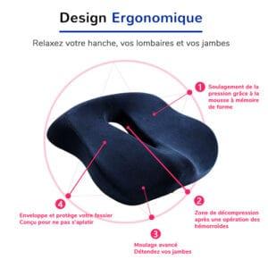 Coussin de chaise avec un design ergonomique