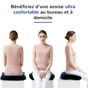 Coussin ergonomique assise ultra confortable