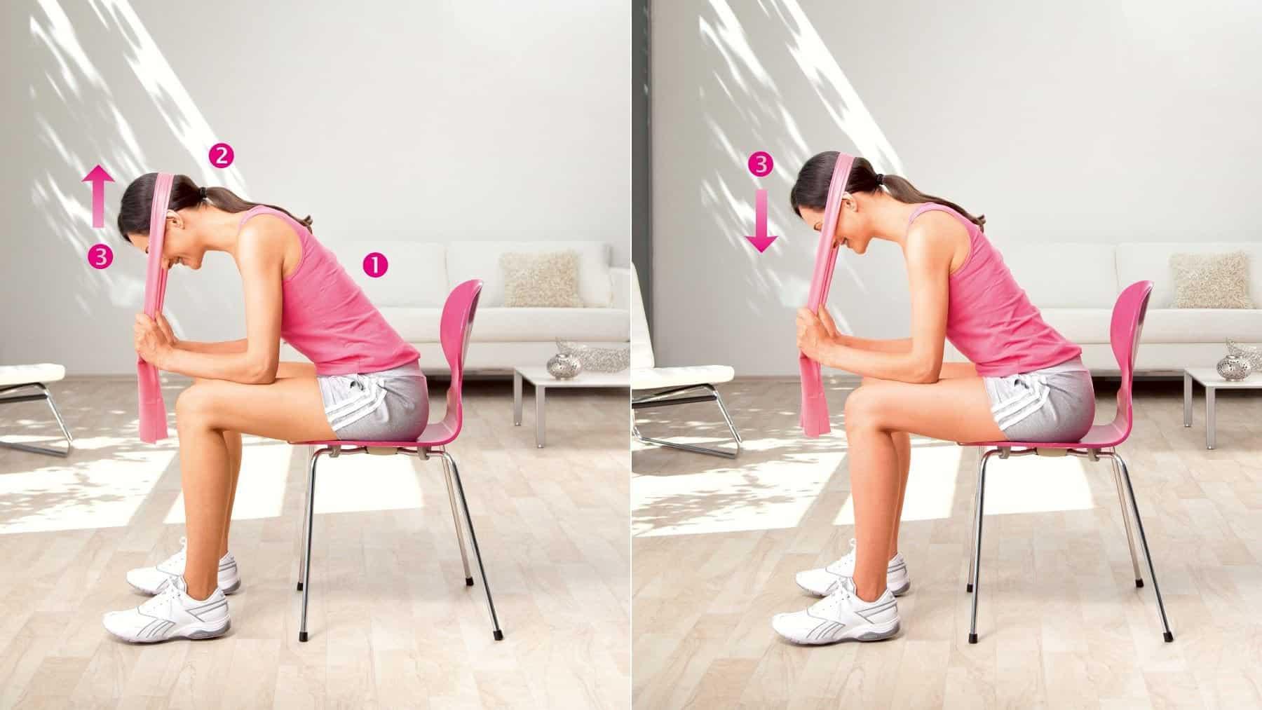 Lever la tête - exercice pour entraîner les muscles du cou