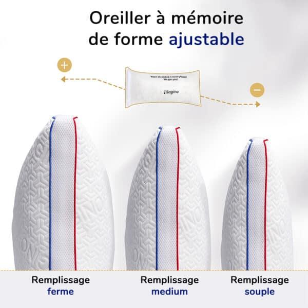 Oreiller anatomique à mémoire de forme