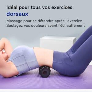 Rouleau de massage pour les exercices dorsaux