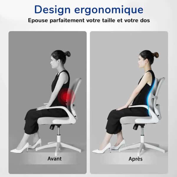 Coussin soutien lombaire avec design ergonomique