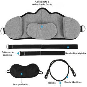 Hamac cervical avec bandouliere accroche en metal et masque inclus