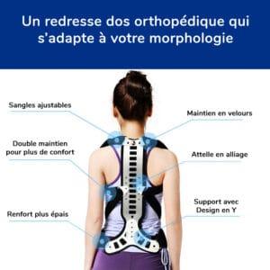 Redresse dos orthopédique pour un dos bien droit